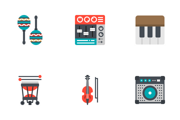Music Instrument Flat Icon Pack