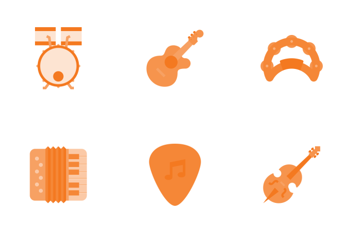 Music Instruments Icon Pack