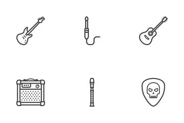 Music Instruments Line Icons Icon Pack