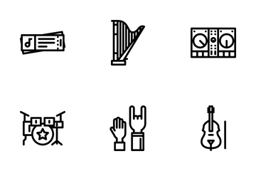 Music Outline Icon Pack