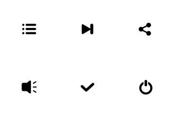 Music Player Fill Icon Pack