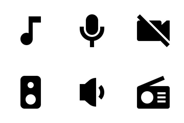 Music Player Interface Icon Pack