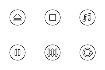 Music Player Thinline Icon Pack