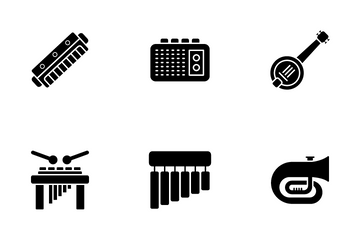 Musical Instrument Icon Pack