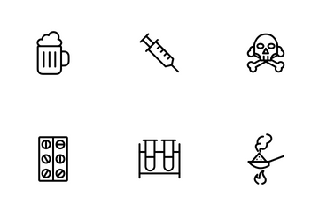 Narcotics And Drugs Icon Pack