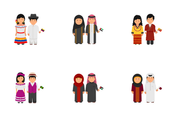 National Cultural Dress Icon Pack