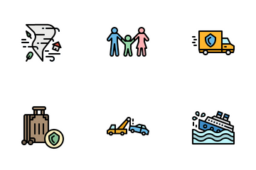 Natural Disaster Insurance Icon Pack