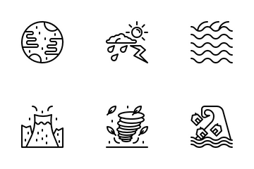 Natural Disasters Icon Pack