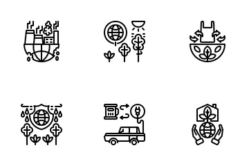 Natural Resources Conservation Icon Pack