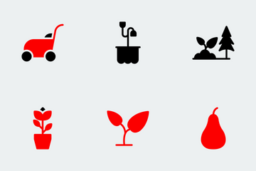 Nature & Ecology Red Black Icon Pack