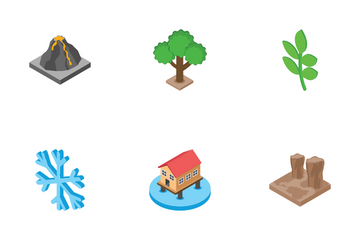 Nature - Isometric Icon Pack