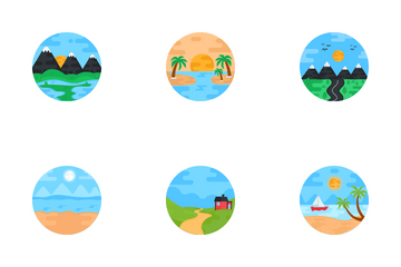 Nature Landscapes Icon Pack