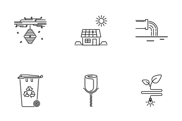 Nature Outline Icon Pack