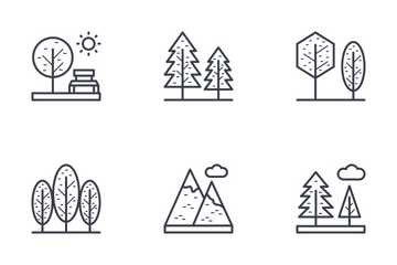 Nature, Park, Plants, Trees Icon Pack