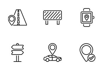 Navigation, And GPS Icon Pack