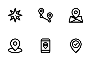 Navigation And GPS Icon Pack
