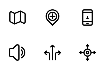 Navigation And Location Icon Pack