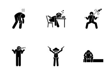 Negative Man Icon Pack