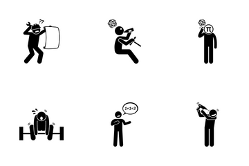 Negative Person Icon Pack