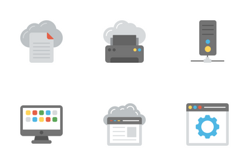 Network And Cloud Computing 2 Icon Pack