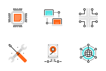 Network And Cloud Computing Icon Pack