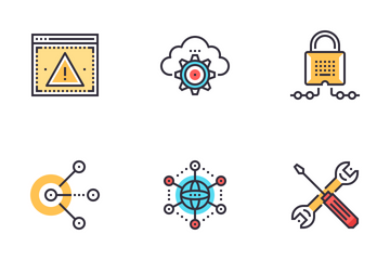 Network And Cloud Technology Icon Pack