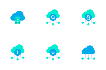 Network And Database - Flat Icon Pack