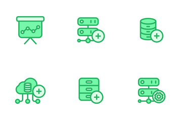 Network And Database - Mono Lineal Icon Pack