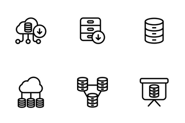 Network And Database - Outline Icon Pack