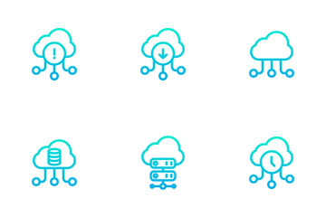 Network And Database - Outline Gradient Icon Pack