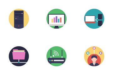Network And Hosting 2 Icon Pack