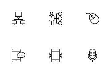 Network Communication Icon Pack
