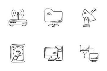 Network Doodle Icons  Icon Pack
