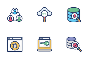 Network Hosting And Servers Icon Pack