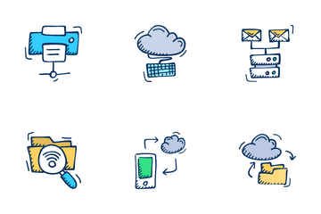 Networking And Web Hosting Icon Pack