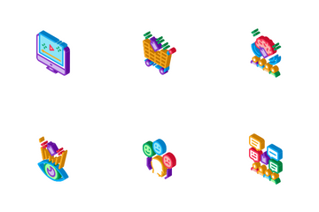 Neuromarketing Business Strategy Icon Pack