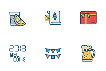 New Year - 2018 Icon Pack