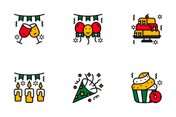 New Year Celebration Icon Pack