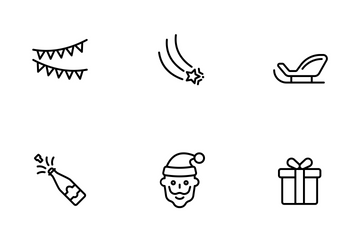 New Year & Christmas Icon Pack
