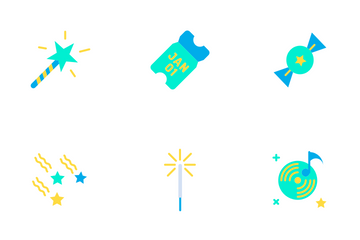 New Year - Flat Icon Pack