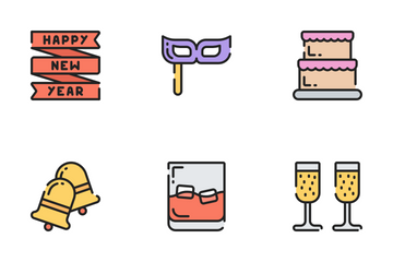 New Years - Soft Fill Icon Pack