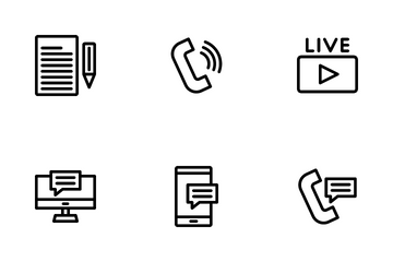 News And Journalist Icon Pack