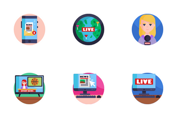 News Broadcasting Icon Pack
