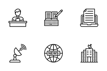 News, Press And Media Icon Pack