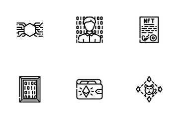 Nft Digital Technology Icon Pack