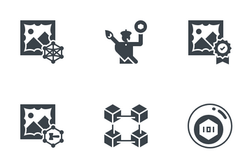 NFT Non-Fungible Token Icon Pack