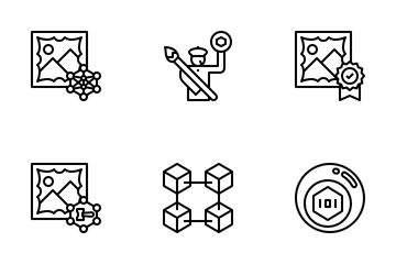 NFT Non Fungible Token Icon Pack