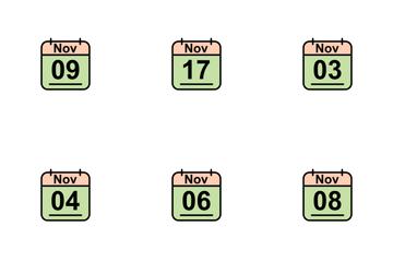 November Calendar 2017 2 - Line Filled Icon Pack