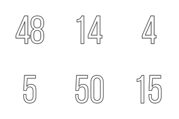 Numbers Icon Pack