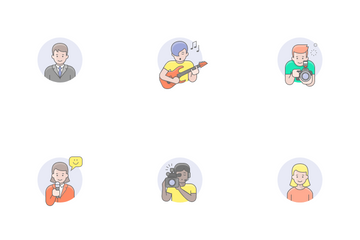 Occupations Avatars Icon Pack